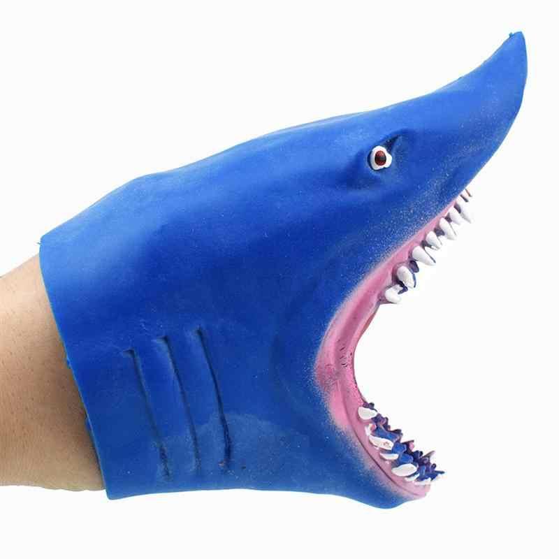 เด็กเกม Shark หุ่นมือยางสัตว์หัวหุ่นมือฉลามจริงรูปของเล่นสำหรับของขวัญเด็ก