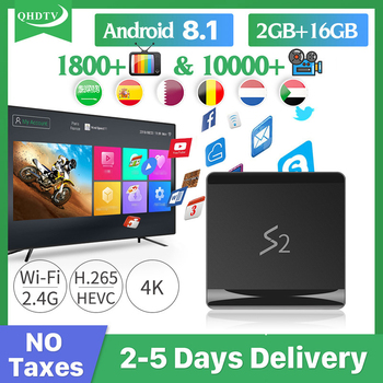 Leadcool S2 Tv Box Android 8.1 2GB 16GB RK3229 With QHDTV 1 Year Iptv Arabic Italia Germany Belgium Netherlands no app included