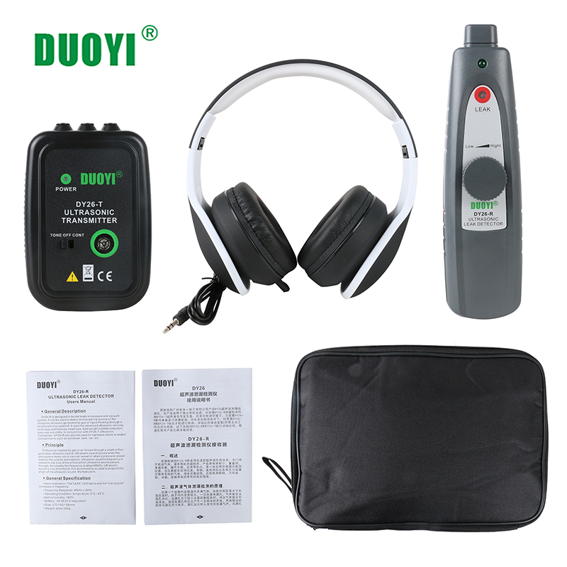 Image 5 - DUOYI DY26 Mini Ultrasonic Flaw Detectors Gas Handheld Portable Vacuum Sealing Leakage Tester Location Determine Leak Tester-in Ultrasonic Flaw Detectors from Tools