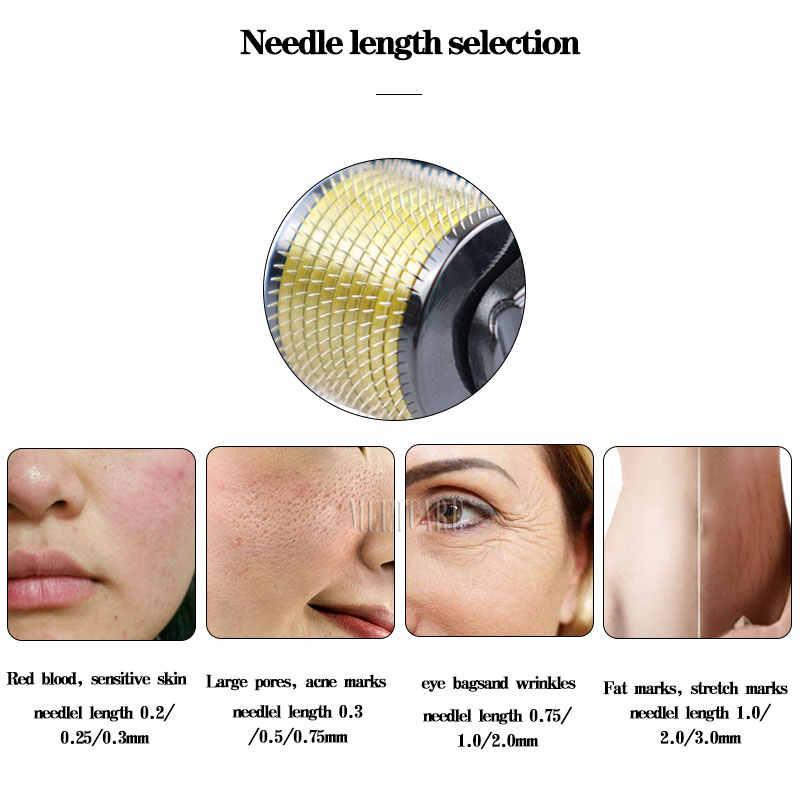 Rolo dermatológico puro 3 em 1, agulhas de titânio dermoroller microniddle roller para face