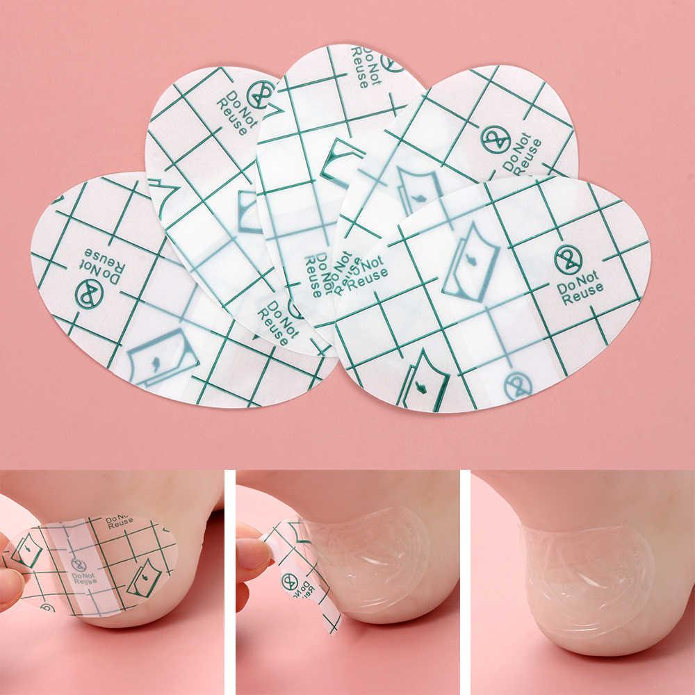 Almohadillas de tacón traseras invisibles de 5/10Pc protectores para zapatos de tacón alto cojín de