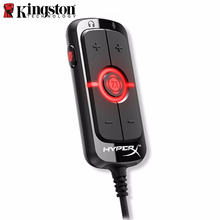 Kingston hyperx amp7.1 virtual surround sound game placa de som controle remoto embutido dps placa de som amp