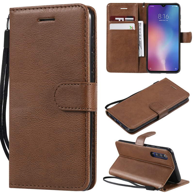 6.09'' Mi A 3 Flip Case for Xiaomi Mi A3 Case Plain Leather Wallet Card Slot for Funda Xiaomi MiA 3 Case MiA3 Shockproof Cover(China)