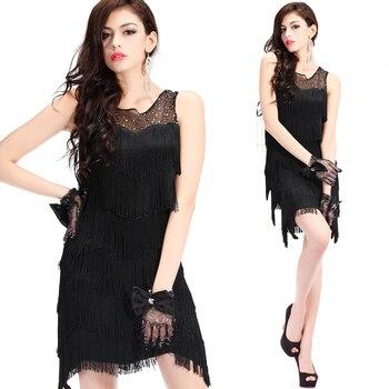 Black Latin Dance Dress Women Fringe Tango Salsa Ballroom Practice Wear Ladies Rumba Samba Cha Cha Performance Clothes DC3610