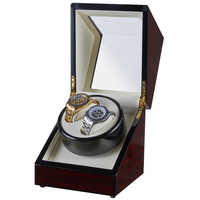 REAL WOODEN Mechanical Watch Winder Motor Shaker Double Dual Watch Winding Box RoseWood Holder Display Jewelry Storage Organizer