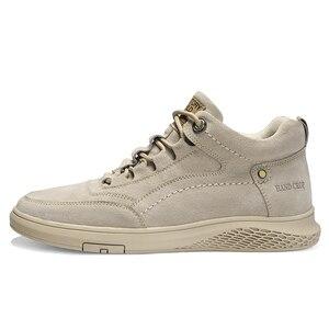 Image 2 - Chaussures de sport pour hommes, en cuir véritable, chaussures de sport en caoutchouc, plate, de haute qualité, chaussures décontractées, hiver, à la mode, à lacets