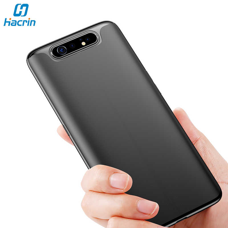 Hacrin Case For Samsung Galaxy A80 Case Soft TPU Slim Matte Bumper Back Cover For Samsung A80 Case Full Protective Bumper Coque
