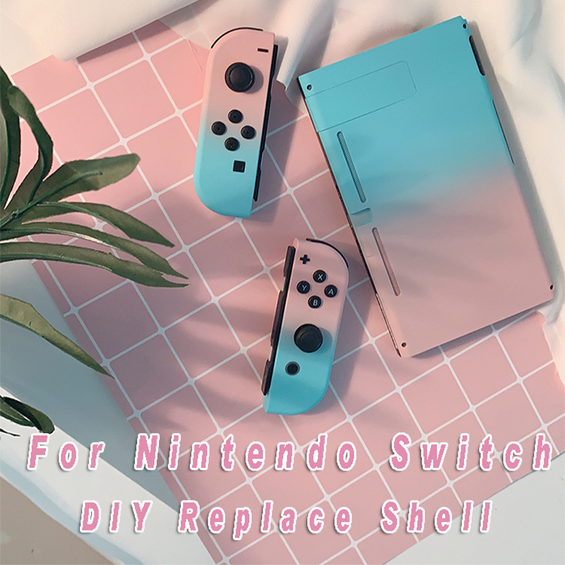 Gradient Color Housing Shell Case Cover For Nintendo Switch NS  Console Controller Housing Nintend Switch Joy-Con Replace Cases