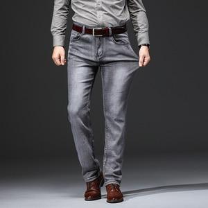 Image 2 - AIRGRACIAS Jeans Men Classic Retro Nostalgia Straight Denim Jeans Men Plus Size 28 38 Men Brand Long Pants Trousers