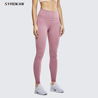 SYROKAN Women's Buttery Soft Full Length Yoga Athletic Leggings Naked Feeling High Waisted Workout Pants 28 Inches