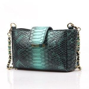 Image 2 - Женская сумка через плечо XMESSUN, модная дизайнерская сумка из кожи питона с тиснением, 2020