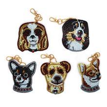 Дизайн собака 5Д алмазная живопись наборы Алмаз мозаика картина вышивки горный хрусталь, DIY сумка брелок кулон домашнего декора