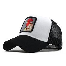 Berretto da Baseball stampato pollo gallo Unisex cappello Hip-Hop in cotone all'aperto berretto regolabile ricamato animale бейсболка для мужчин