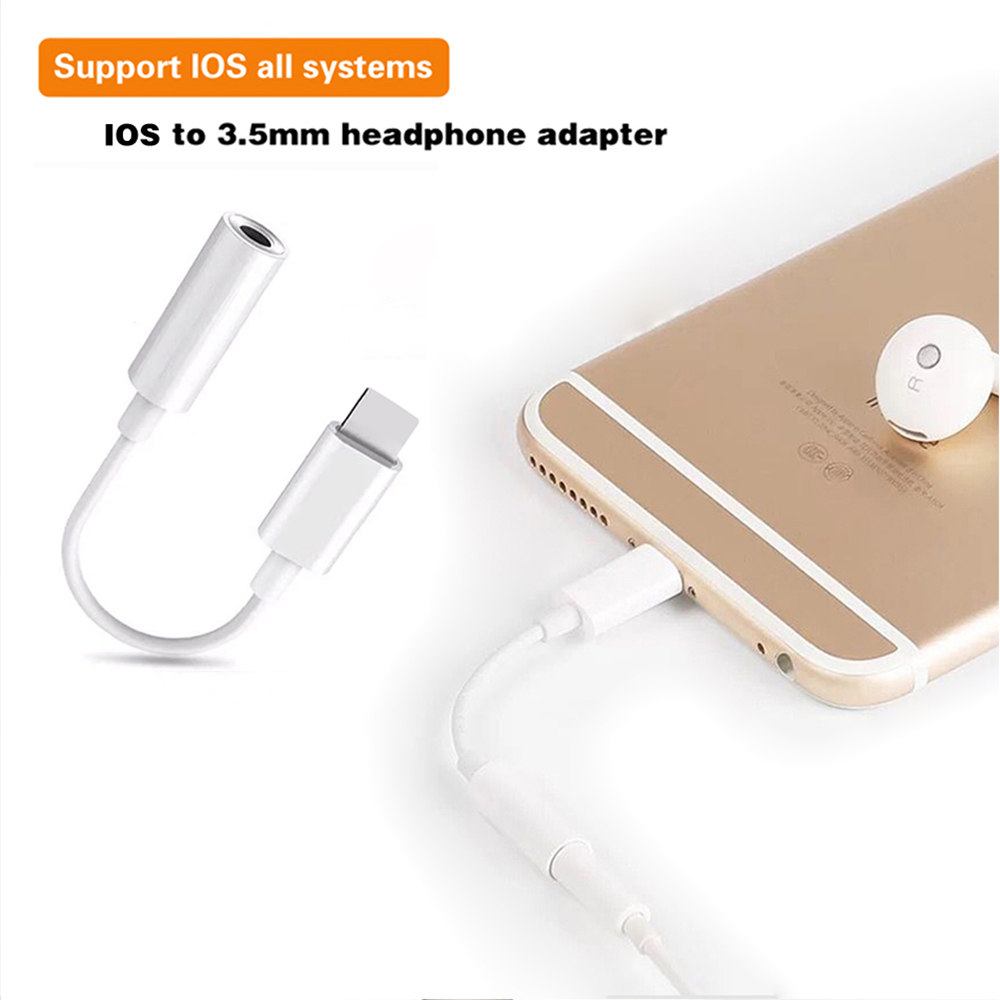 3.5mm Jack Headphones Adapter For IOS Plug Play Music Audio Earphone USB Cable For IPhone 11 X 7 8 Systemwide Converter Adapter