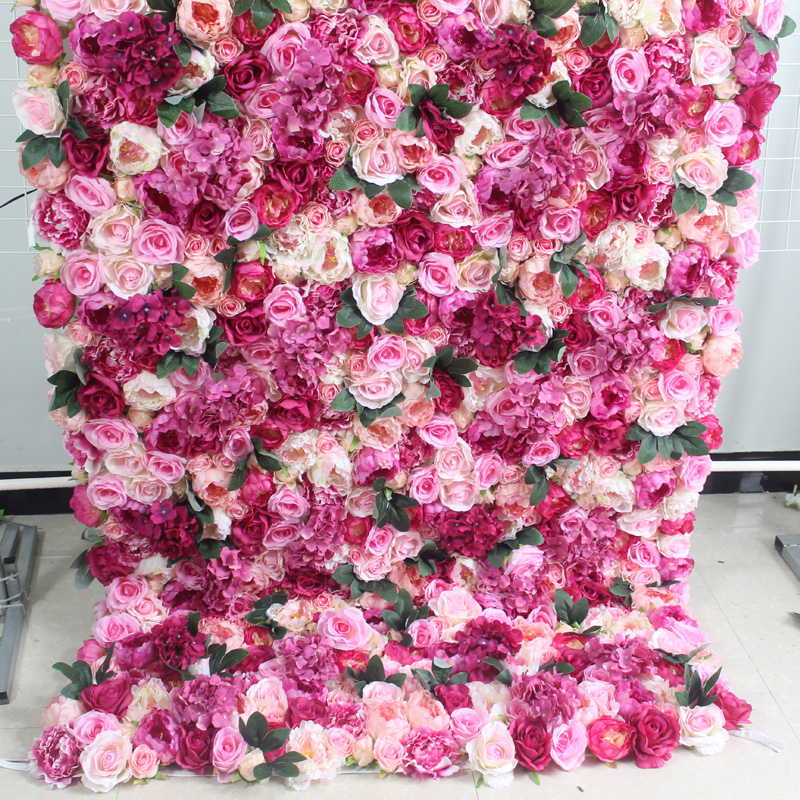 SPR 4ft * 8ft закатать цветок из текстиля стены искусственная Роза случай фон цветочный орнамент украшения Бесплатная доставка - 5