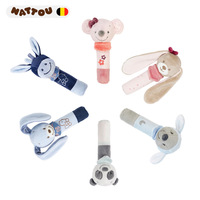 0 1 Year Old Plush Pacify Toy BB Rod Infant Unisex Non Baby Bibi Hand Puppet Catch Bite