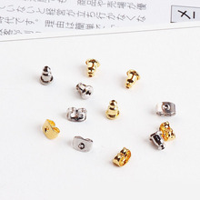 50pcs diy jewelry accessories bullet butterfly ear ear plug cap earrings wholesale gold plated color retention