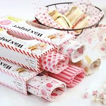 50 Teile/los Wachs Papier Lebensmittel Grade Fett Papier Backen Werkzeuge Lebensmittel Wrapper Verpackung Papier Für Brot Süßigkeiten Kuchen Burger Frites ölpapier