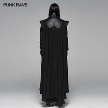 PUNK RAVE Men Punk Rock Personality Long Cloak Fashion Shooting Costume Halloween Knight Stage Perform