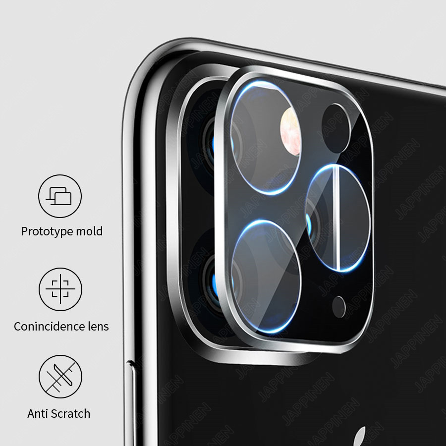 Camera Lens Full Cover Protective Metal Ring Tempered Glass For iPhone 11 Pro XS Max XR