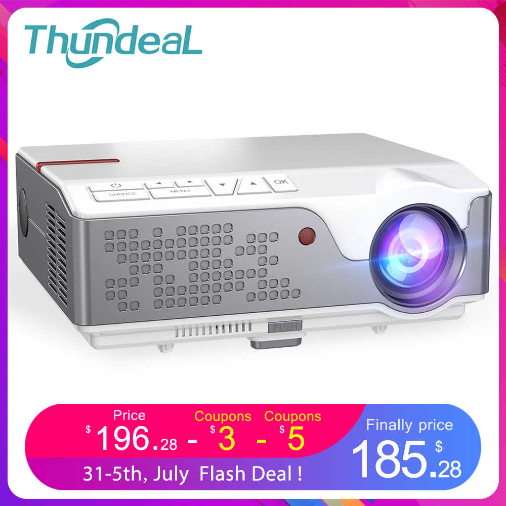ThundeaL Full HD Asli 1080P Proyektor TD96 Smart Projetor LED Wireless WiFi Android Multi Layar Proyektor 3D Video projector