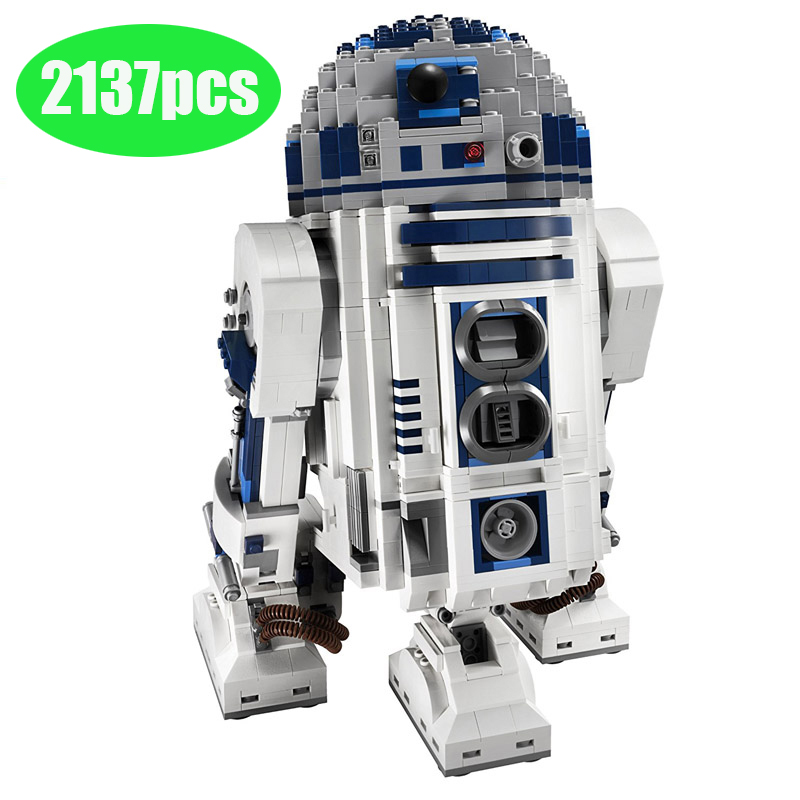 2137pcs lepining Star Series Wars 10225 The R2 Robot Set D2 Out of print Building Blocks Toyswars birthday christmas gifts