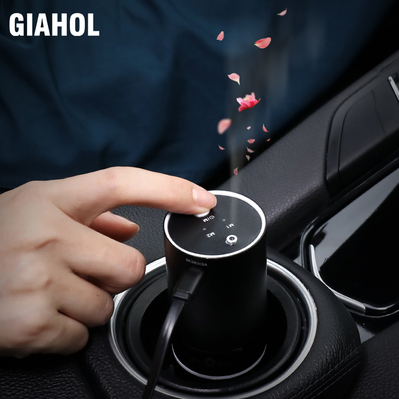 Essential Oil Car Diffuser Air Purifier Waterless Oil Nebulizer Air Freshener Relieve Driving Fatigue Auto Interior Aroma Perfum