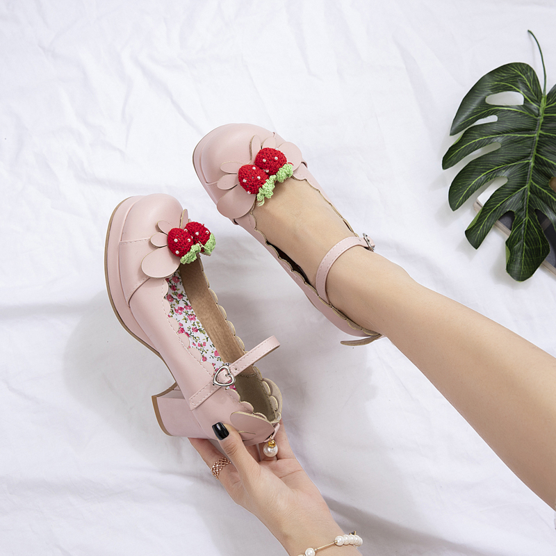 Details about  /Women/'s Lolita Candy Color Princess Style Mary Janes Thick Sole Cosplay Shoes L