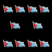10PCS Cuba Flag Country Waving 3D Lapel Pins & Badges Hat Tie Tack Badge Pin Brooch Badge 10pcs cuba flag country waving 3d lapel pins
