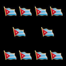 10PCS Cuba Flag Country Waving 3D Lapel Pins & Badges Hat Tie Tack Badge Pin Brooch Badge greece waving flag lapel pin 19 x 21mm hat tie tack badge lapel pin brooch badge