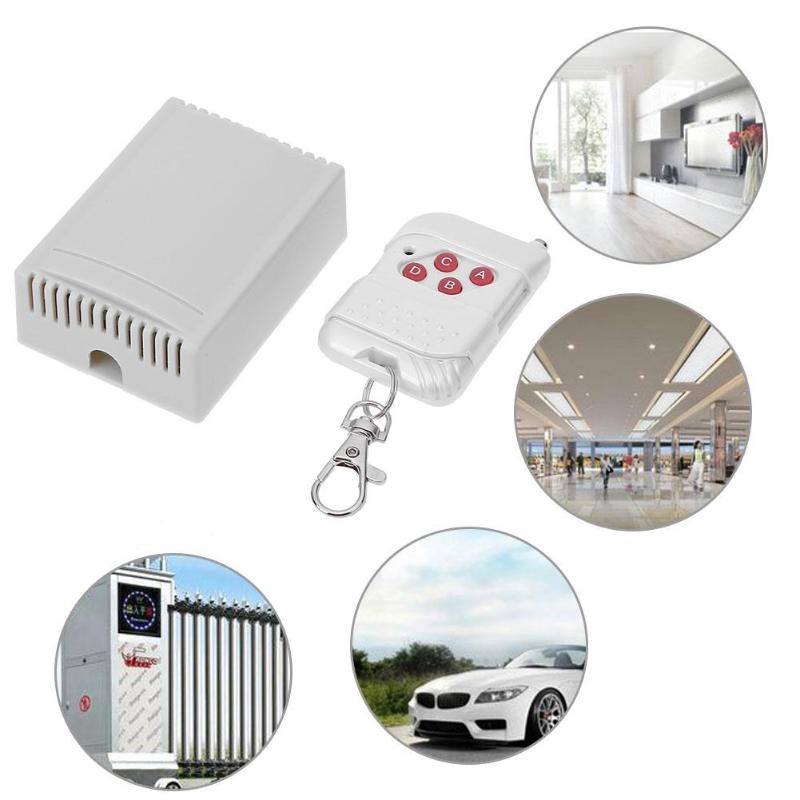 Universal Wireless Remote Control Switch Dc12V 4ch Relay Receiver Module With 4 Channel Rf Remote Control 75X55X30mm