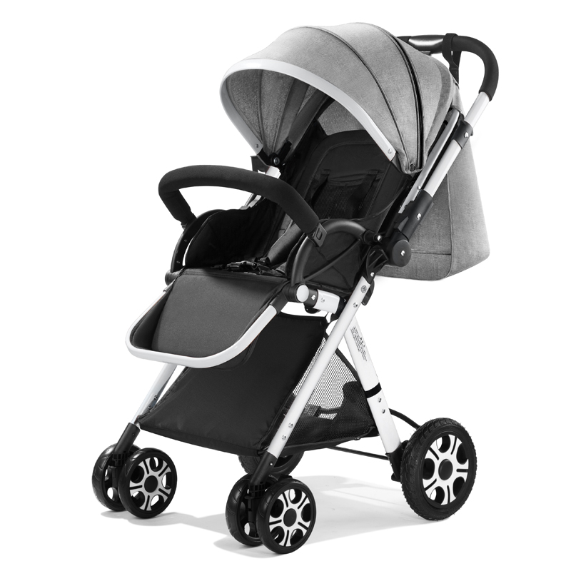 Stroller High Landscape Ultralight Small Portable Folding Pocket Umbrella Car Can Sit Lie Baby Carriagebed For Kids