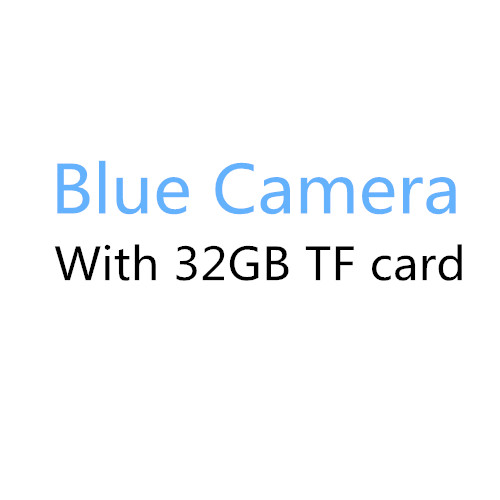Blue with 32GB card