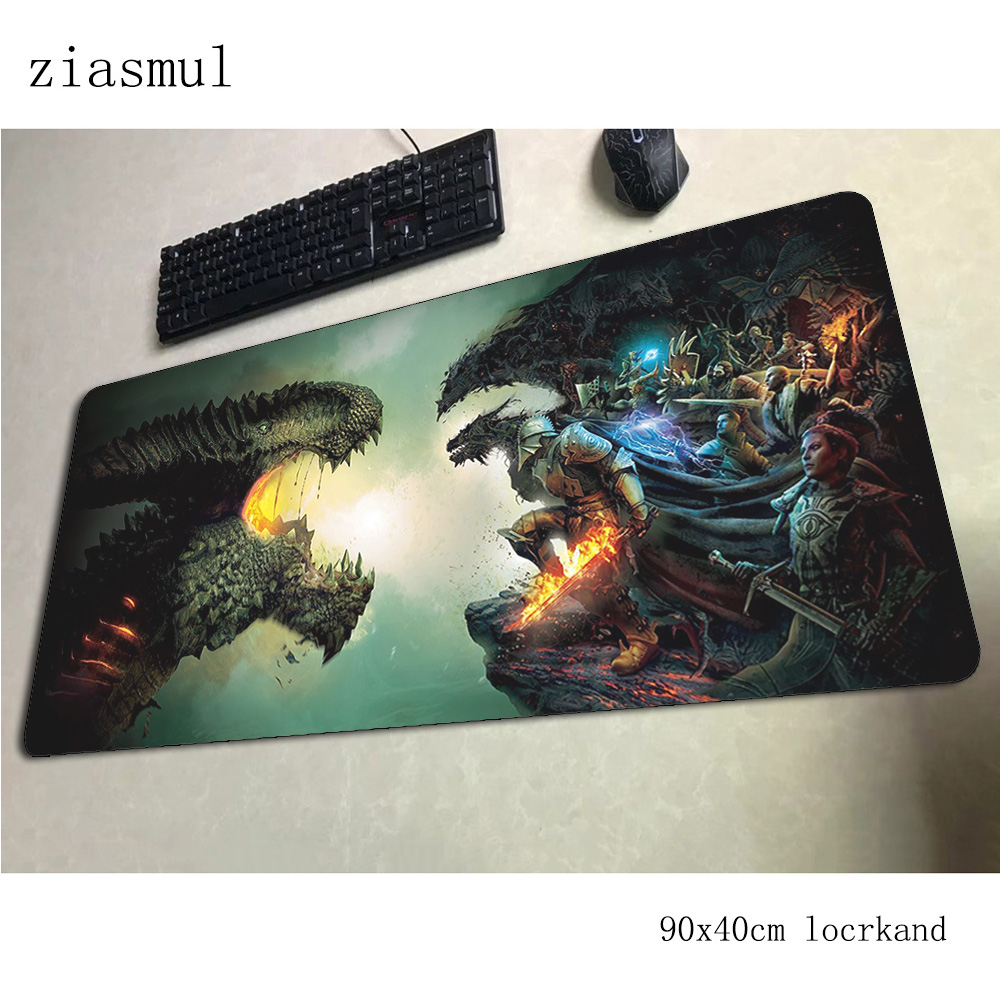 dragon age <font><b>padmouse</b></font> <font><b>900x400x3mm</b></font> gaming mousepad game Halloween Gift mouse pad gamer computer desk Fashion mat notbook mousemat image