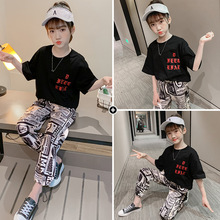 girls clothes summer kids clothing sets teen children fashion costume for girls 6 8 12 years flower t shirt strap dress 2 pcs Summer Girls Clothing Set 2020 Children Letter T-Shirt & Pants 2Pcs Girls Suits Teen Kids Clothes Casual Tracksuit 6 8 10 Years