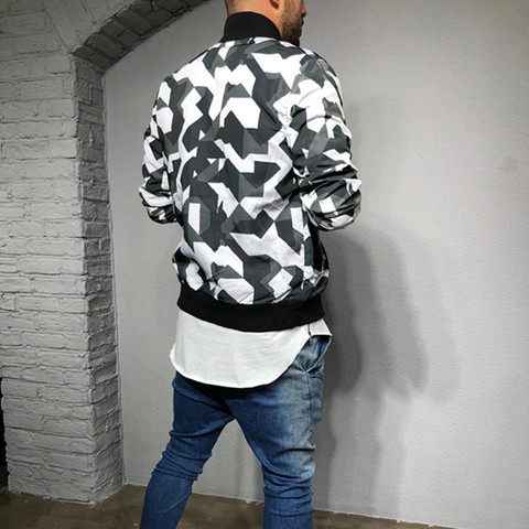 2019 New style Men Camouflage sport jacket Gyms Fitness Bodybuilding zipper coat Autumn casual fashion joker tide brand clothing Karachi