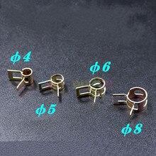 Pince de tube d'encre en acier pour imprimante Myjet JHF Vista Xuli Flora, 12 pièces/lot, φ 4/5/6/8mm