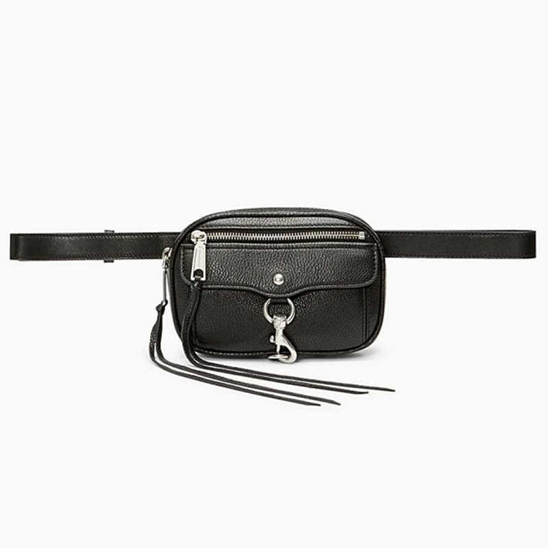 Womens Belt Bag Tassel Waist Bag Ladies Leather Banana Fanny Pack Handy Chain Belt Purse Girl Waterproof Crossbody Shoulder Bags