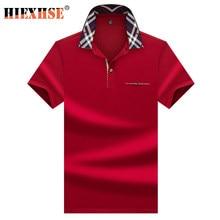 Polo à manches courtes pour hommes, nouvelle marque de haute qualité, tissu brodé, solide, élégant, Business, été