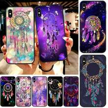 LJHYDFCNB Beautiful Dream Catcher DIY Painted Bling Phone Case For iphone6 6s plus 7 8 7 8 plus X XR XS MAX 11 Pro Max Cover(China)