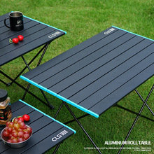 New folding tables aluminium alloy light barbecue outdoor furniture folding table portable picnic camping camp dinning table cheap Metal Minimalist Modern Assembly Rectangle 68 2*46 3*40CM Outdoor Table China Black Aluminum Table-Large Black-Large Aluminum Alloy