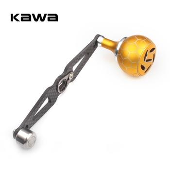 цена на KAWA Carbon Fiber Handle Reel With Alloy Knob Fishing Reel Straight Rocker Accessory Length 120mm Hole Size 7x4 and 8X5mm