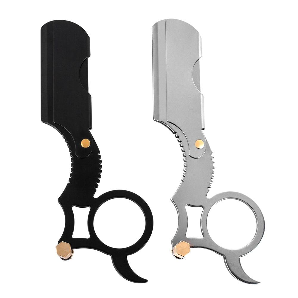 High Quality Men Stainless Steel Straight Barber Edge Steel Safety Razors Beard Shaving Knife Hair Removal Tools