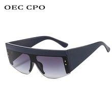 Oec cpo солнцезащитные очки больших размеров в полуоправе женские
