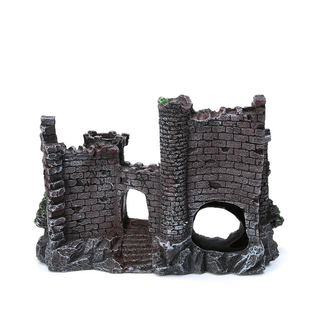 Zřícenina hradu do akvária -