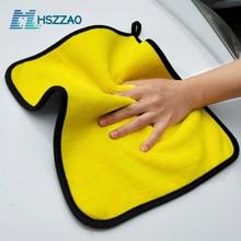 Microfiber-Towel Cloth Detailing Car-Care Cleaning-Drying Hemming 40/60CM