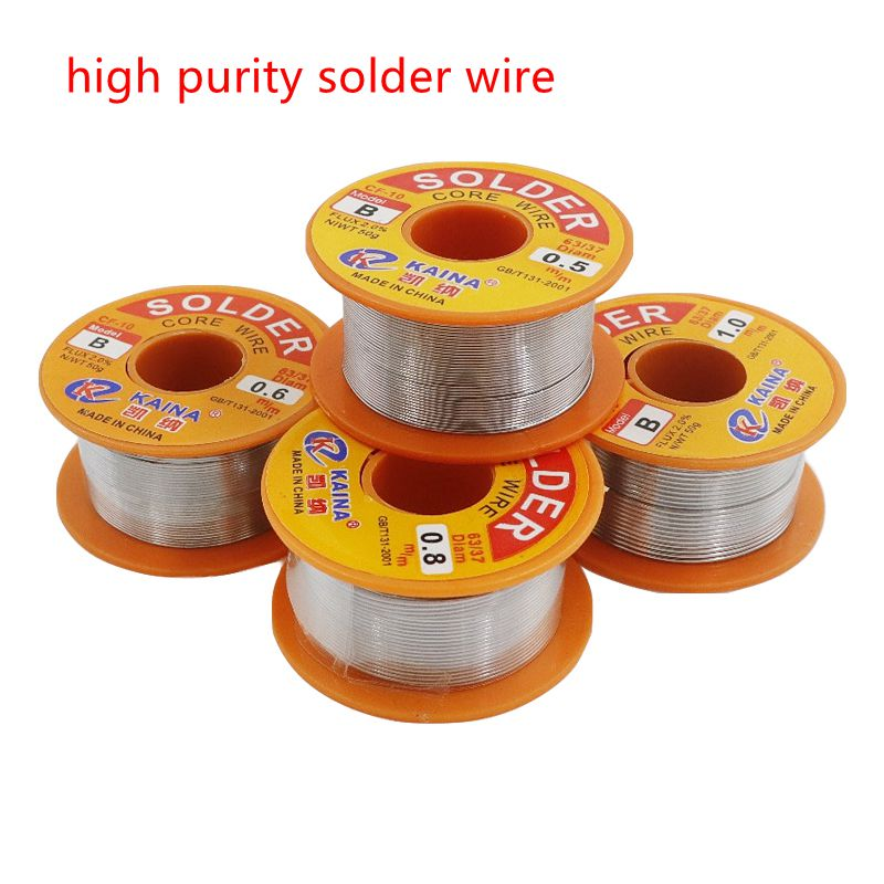 0.5/0.6/0.8/1.0mm 50/100g Welding Wire Roll  2.0% 45FT Tin Lead Tin Wire Melt Rosin Core Solder Soldering Wire Roll
