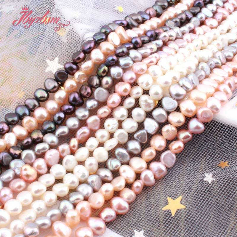 """3-4,5mm Süßwasser Perle Unregelmäßige Form Lose Naturstein Perlen Für Schmuck Machen DIY Halskette Armbänder Ohrring Str 14,5"""""""