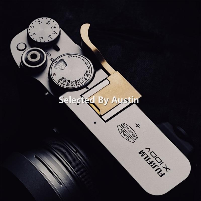 Thumb Rest Finger Thumb Grip Hot Shoe Cover Leather Pad For Fuji X100V Fujifilm