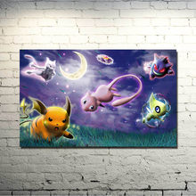 Poster Modular Pictures Nordic Style Print Game Pokemon Xy Anime Pikachu Canvas Painting Wall Artwork For Living Room Home Decor(China)
